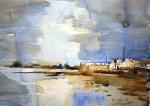 Bull island, Dublin, Watercolor Project