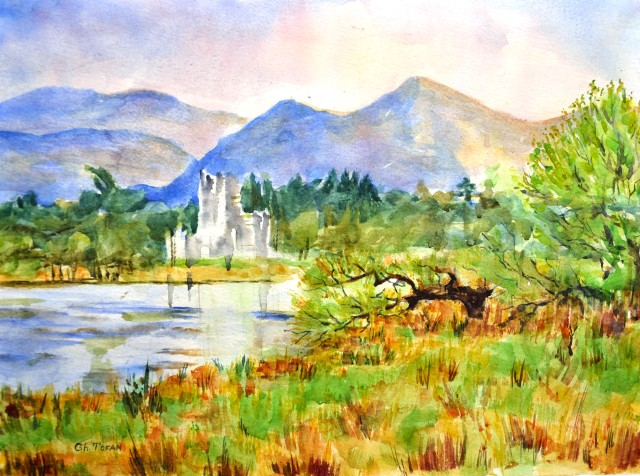 Killarney National Parc, Ireland, Majestic view with Ross Castle