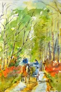 Killarney Park, Watercolor Painting