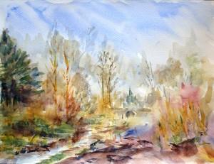 Marlay Park Dublin, Ireland. Watercolor 24x32 cm